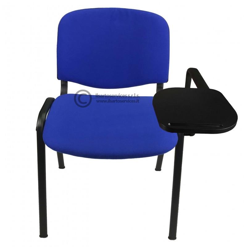 Sedia da Meeting e Riunione con Bracciolo e Tavoletta Scrittoio
